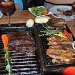 Parrillada served on hot coals, so you finish it the way you like