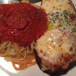 eggplant parmesiana with delicious red sauce