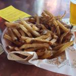 Fresh cut fries.
