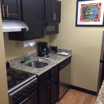Kitchenette, full sized fridge and coffee maker included
