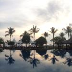 Sunset above the infinity pool