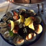 You must get this as an appetizer! Sunset Seafood Platter