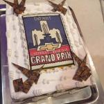 Cake prepared for our Grand Prix party