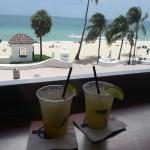 Our drinks and the view!
