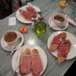 Toasts with Ham