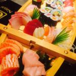 Chefs selection of Sushi & Sashimi on a boat! Von Voyage!