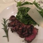 Great anti pasta, sea bass and steak
