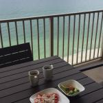 We loved eating breakfast and enjoying the view!