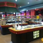 Several buffet bars to choose from