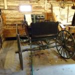 Old carriage in the garage