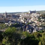 Vista hacía Toledo desde la terraza de la cafetería