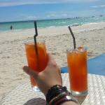 Cheeky cocktails on the beach :)