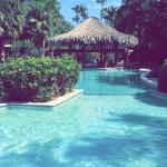 L'une des trois piscines de l'hôtel