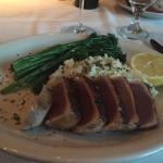 Blackened yellowfin tuna, delicious fish of the day