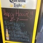 Happy Hour starts at 2!