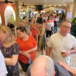Length of queue every night for Dining Room on our stay.