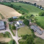 Benhall Farm from a drone