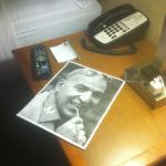 """""""who loves ya baby?"""" The 8.5x11 picture of Telly Savalas I requested to be placed on my nightsta"""