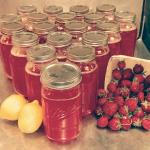 Strawberry lemonade sold at the Farmers market