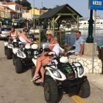 Having a breather after a long quad trip in Kefalonia !!