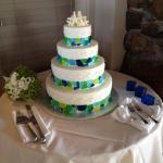 Seaglass Wedding Cake