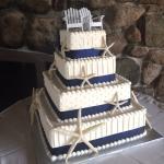 Square Wedding Cake with Starfish