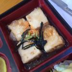 Jellylike, bland tofu with a slimy batter...