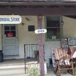 Rest on the rocking chairs at the general store
