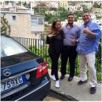 Touring Amalfi Coast with our awesome driver, Fabio!