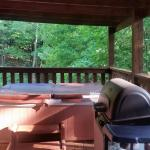 Back Deck w Grill and Hot Tub