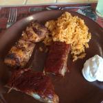 ribs, fish and rice