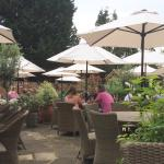 Outside garden area of The Onslow Arms