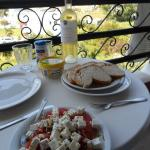 Lunch on the balcony (made in apartment)