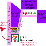 we are at chalok area turn right next to 7-11 then 100m after