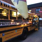 We are a converted American school bus serving authentic Texas BBQ food
