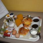Breakfast delivered to our room at our requested time