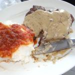 "After my fist ""chomp"", I decided a picture was justified. T-bone with pepper sauce and ""Mieliepa"