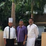 With Chinese Chef Lalith & Executive Chef Sachin Joshi
