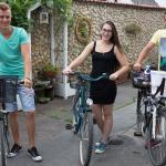 Renting bikes at Wanderlust Hostel