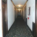 Main hallway after leaving the elevator.