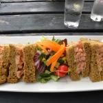 doorstep sandwich at the White Hart, Castle Combe