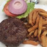 Straight up 8oz burger, medium rare