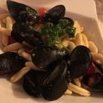 cavatelli with mussels & spicy sausage