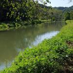 Deer Creek runs beside the trails