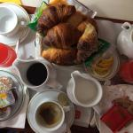 In-room continental breakfast for two.