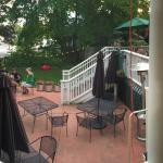 Outdoor patio/deck and live music