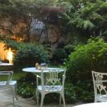 Relaxing at Hotel Admiral's garden