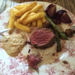 Fillet steak cooked to perfection.