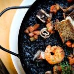 Black rice with seafood.  Only in UCO!