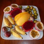 Our breakfast fruit platter... delicious!